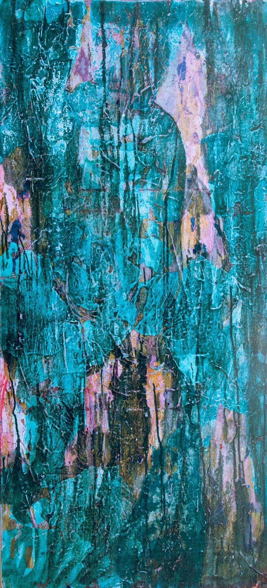 digital decay painting destruction colour paper collage