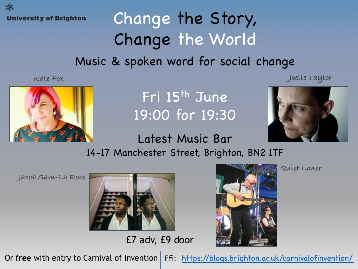 Change the Story, Change the World, evening event flyer