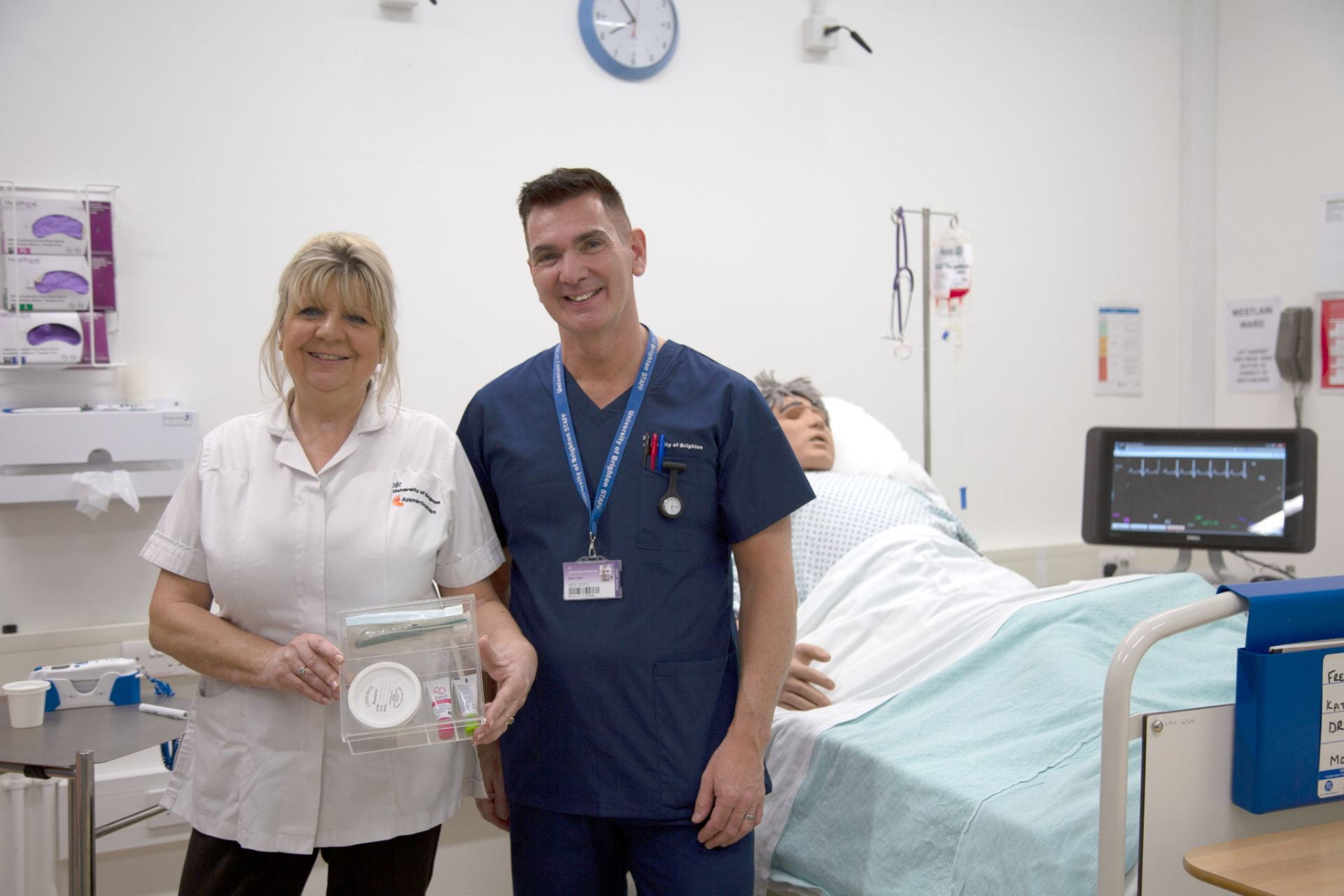 Nursing Associate apprentice Kathy Boult and course leader Mark Lees