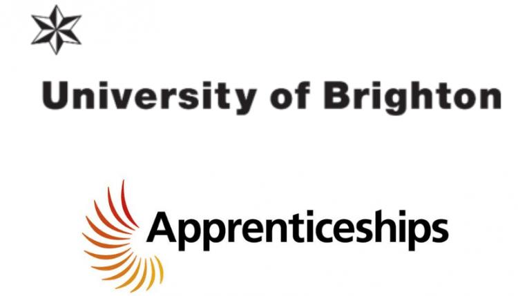 University of Brighton logo and Apprenticeships logo