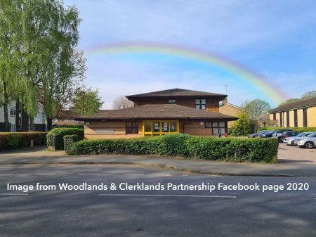 Rainbow over Woodlands & Clerklands Partnership