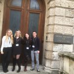 MChem students outside Burlington House