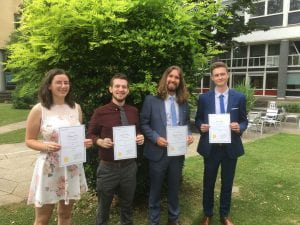 Chemistry prizewinners with certificates