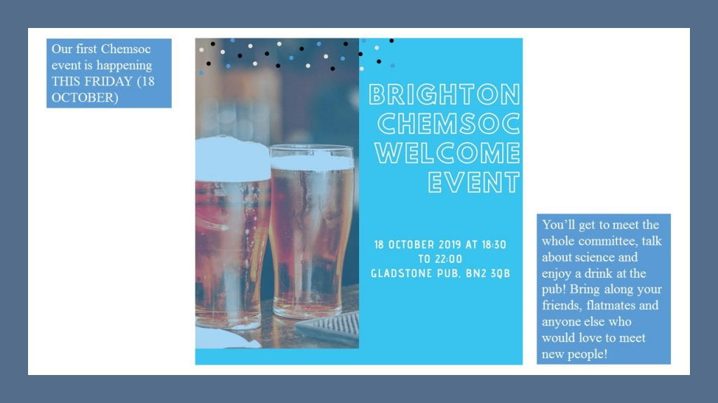 First Event Friday 18th October 18:30-22:00 Gladstone pub BN2 3QB