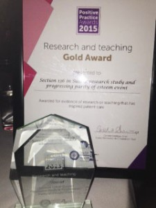 Research and Teaching Gold award