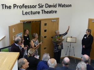 The Professor Sir David Watson lecture theatre