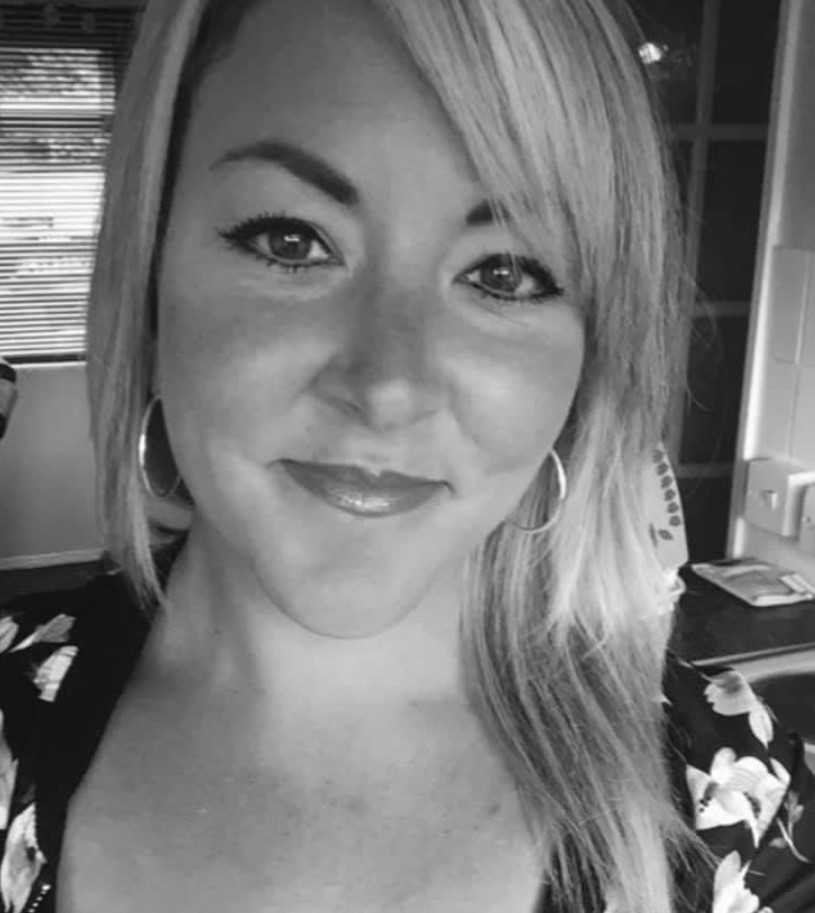 A black and white photo of Hannah