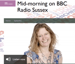screen shot of the BBC sussex website