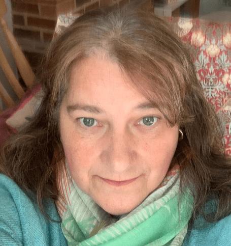 Cath Holstrom selfie taken from home