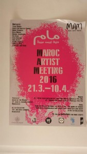 Maroc Artist Meeting poster - note one of the events on the bottom left!