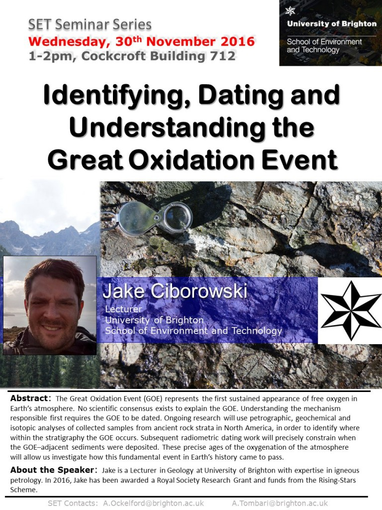 Identifying, Dating and Understanding the Great Oxidation Event - Jake Ciborowksi explains all.