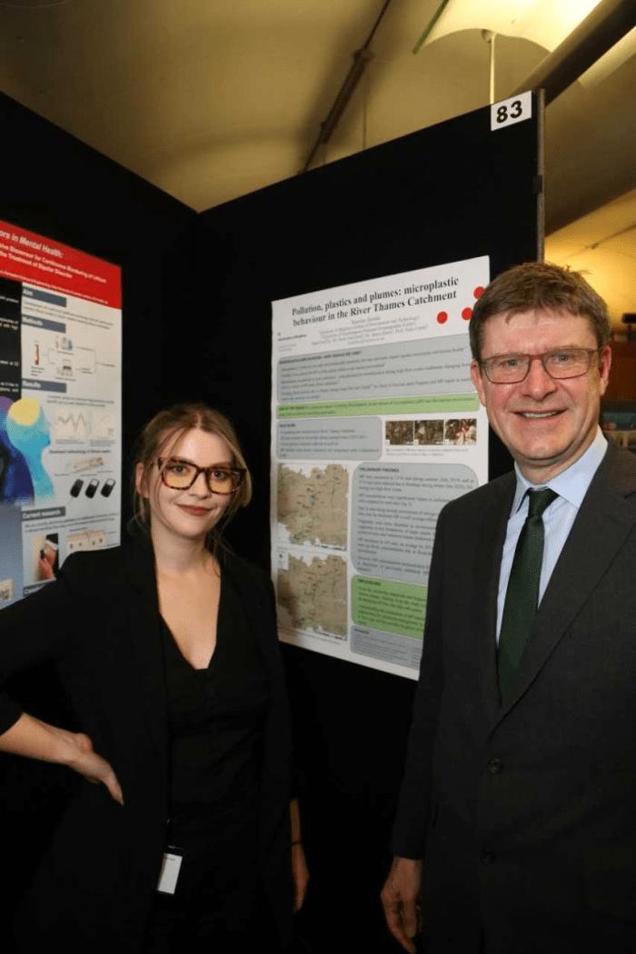 Karolina with MP Greg Clark