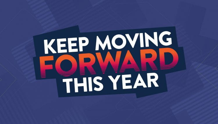 keep moving forward Clearing graphic
