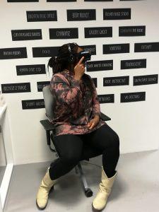 Vicki experiencing VR