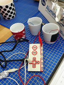 Making things happen using a makey makey