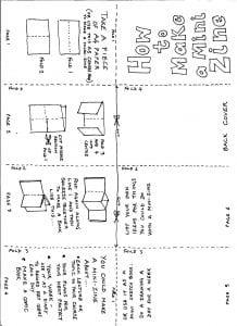 sample zine