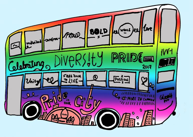 Brighton Pride bus