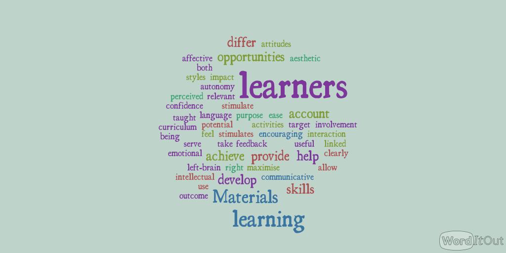 Principles and Frameworks for material design   ELT MATERIAL