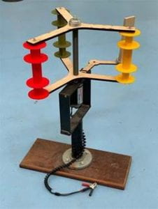 prototype of a vertical axis wind turbine
