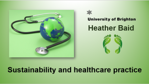 Sustainability and healthcare practice