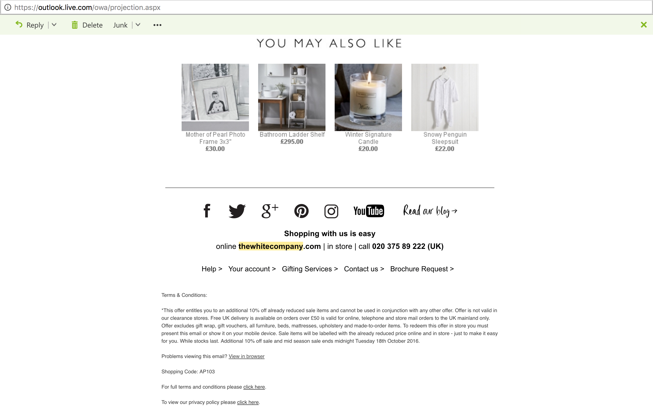 E-mail Marketing: The White Company - An E-Mail Analysis