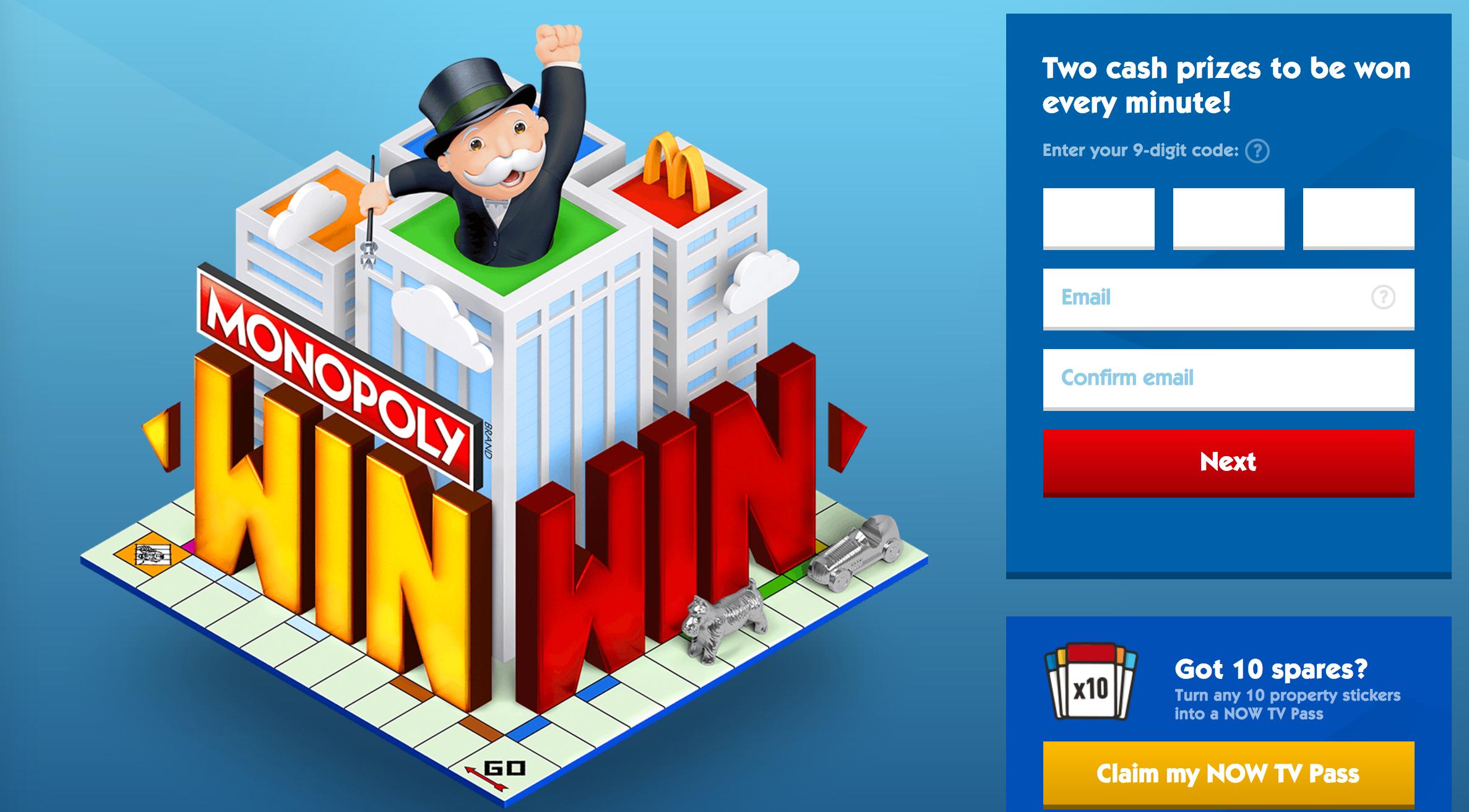 Instant win mcdonalds monopoly 2018 nissan
