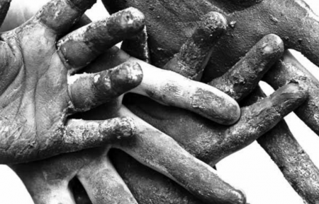 Black and white hands image