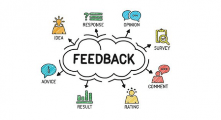 vector image about receiving feedback