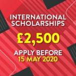 Apply now for new £2,500 international scholarships