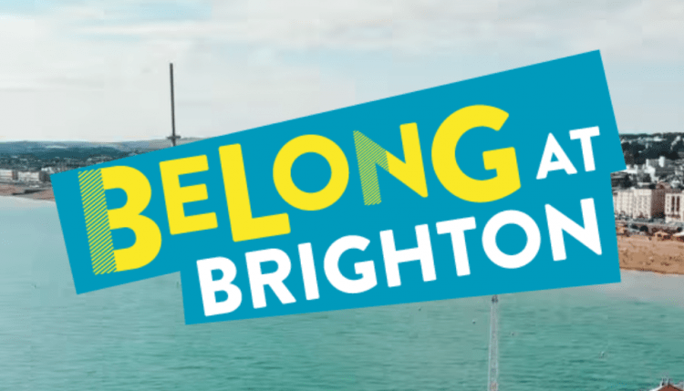 belong at brighton sign