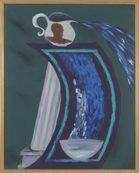 Lubaina Himid, Memorial to Zong, 1991 Acrylic on canvas, 152.4 x 121.92 x 4.5 cm Courtesy the artist and Hollybush Gardens, photo: Andy Keate