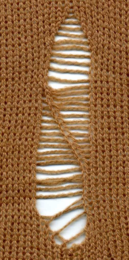 Making Ladders And Lace Holes By Transferring Stitches Using The