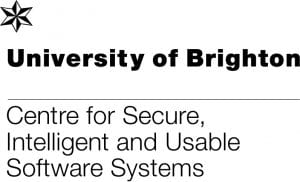 Logo for the University of Brighton's research Centre for Secure Intelligent and Usable Software Systems