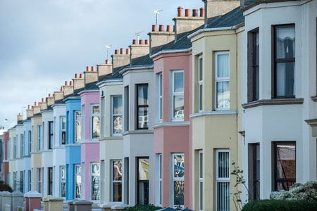 rainbow houses in Brighton