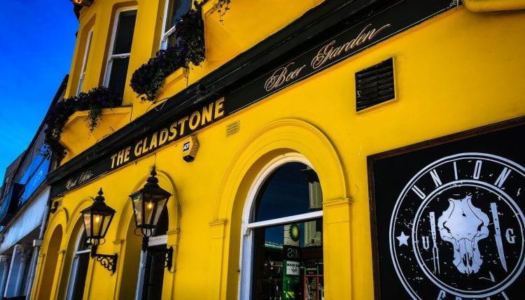 Gladstone pub yellow frontage