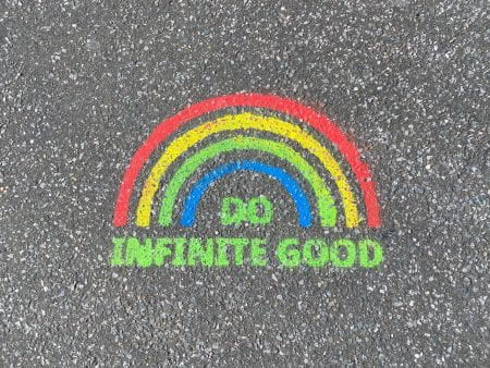 Rainbow graffiti in Brighton