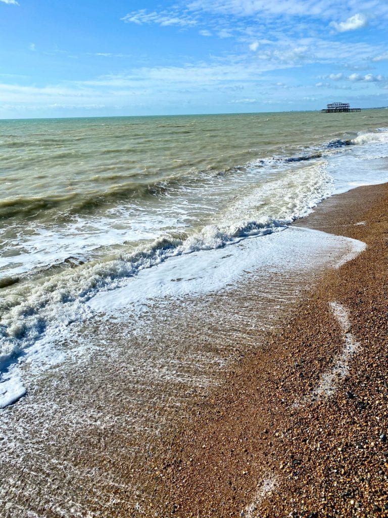 Waves on Brighton beach