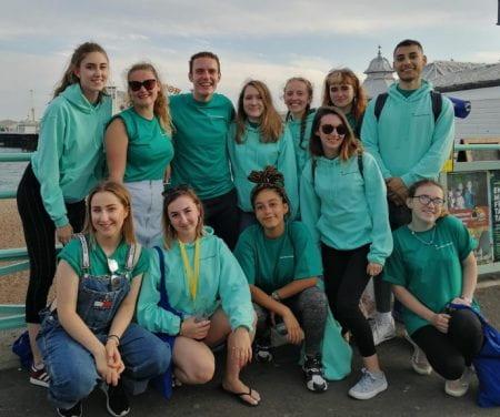 A group of student ambassadors