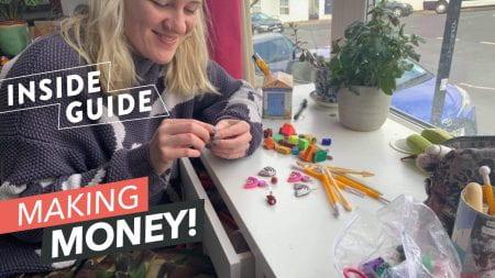 Ellie making earrings