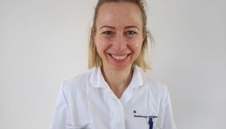 Lenka in nurse uniform