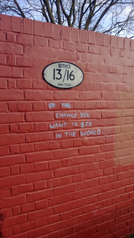 The graffiti that inspired Tim to make a change