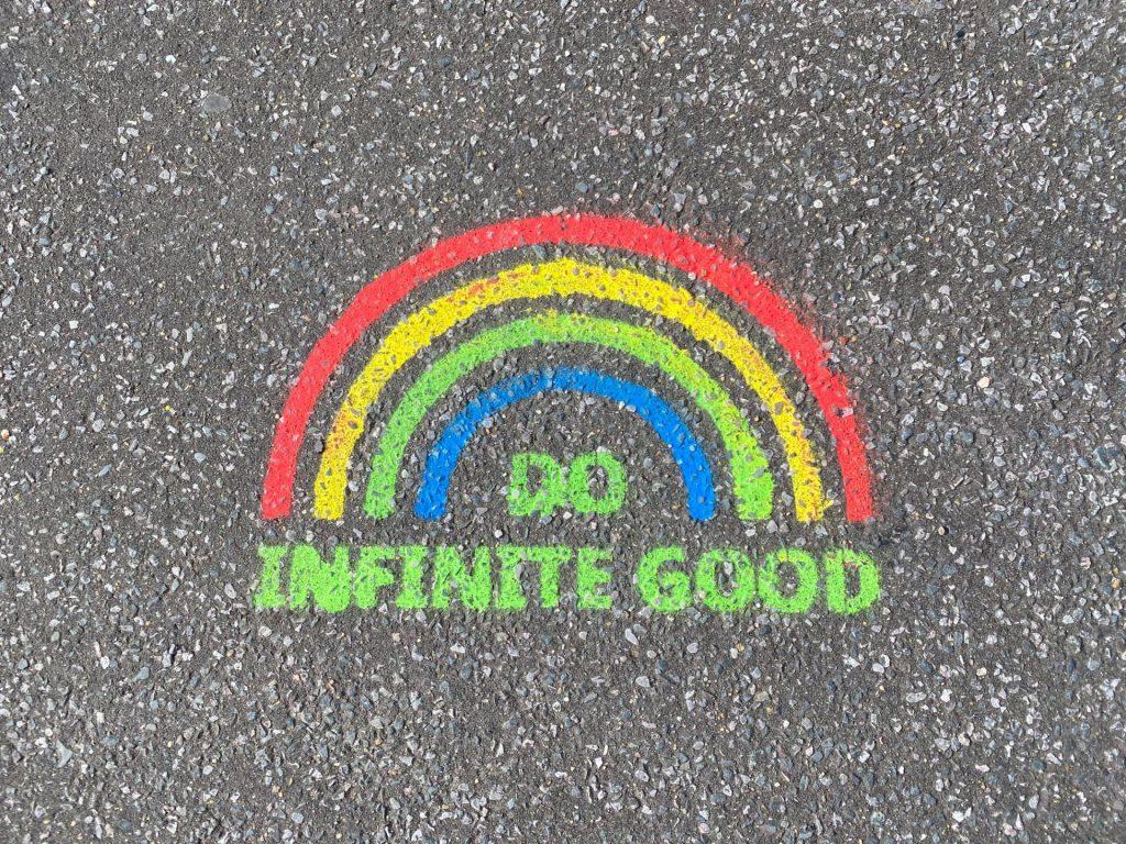 DO INFINITE GOOD graffitti