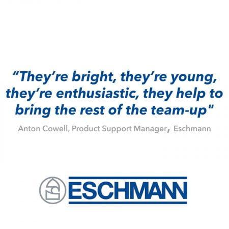 Eschmann logo and quote