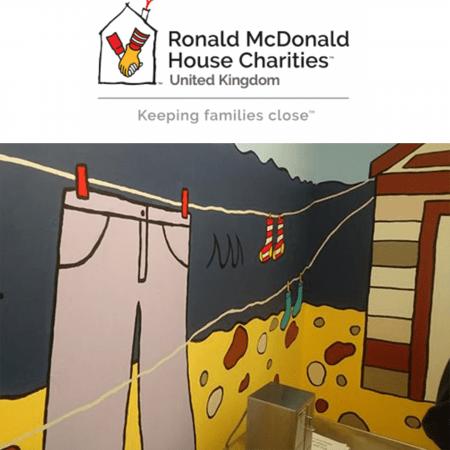 RMHC logo and seaside mural image