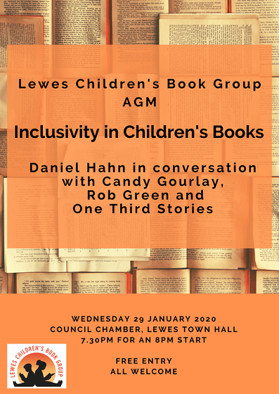 Poster for event Inclusivity in Childrens books