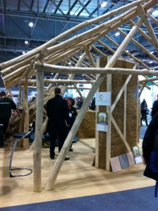 Timber framing with straw bale infill