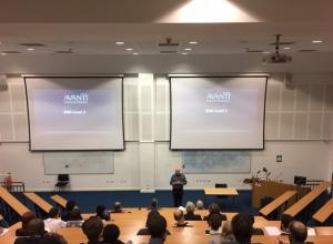 Professor Richards presenting at the University of Brighton