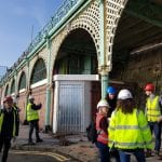 Working on Brighton's iconic arches