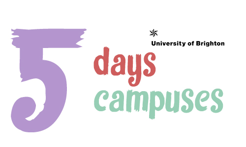 5 days 5 campuses graphic
