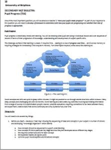 image of one of the NQT bulletins